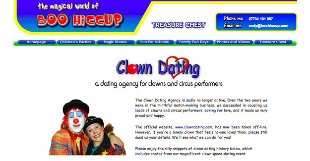 clowns dating website The clown got out of a convertible holding balloons and flowers — then shot marlene warren in the [they met on a dating site and went bowling it was a.
